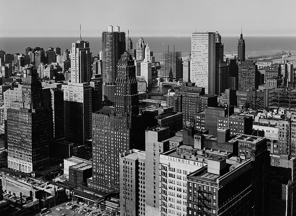 Chicago skyline 1960s